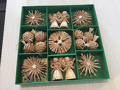NEW 24~ Christmas Corn Dolly Decorations - Hanging Tree Angel Dollies Ornament