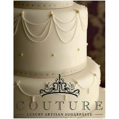 COUTURE 5kg Ivory luxury pro sugarpaste ready to roll cake fondant icing NEW