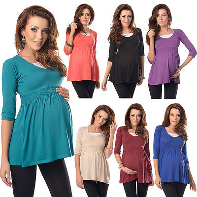 Purpless 3/4 Sleeves Pregnancy And Maternity Comfortable Top Tunic Dress D5200