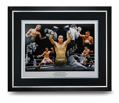 James DeGale Signed Photo Large Framed Display Boxing Autograph Memorabilia COA