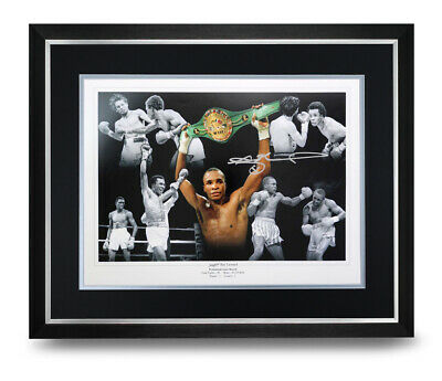 Sugar Ray Leonard Signed Photo Large Framed Display Boxing Autograph Memorabilia