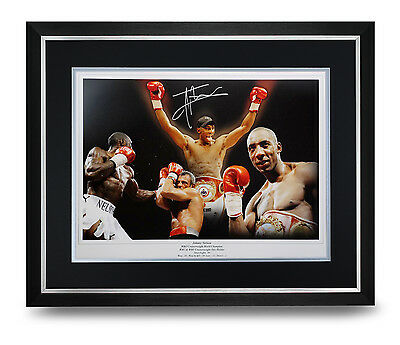 Johnny Nelson Signed Photo Large Framed Display Boxing Autograph Memorabilia COA