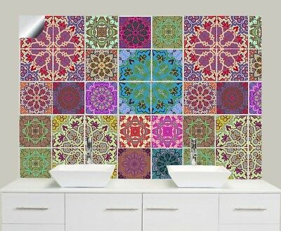 "Traditional Self-Adhesive Tile Sticker Decal Packs Kitchen Bathroom 6"" TP54"