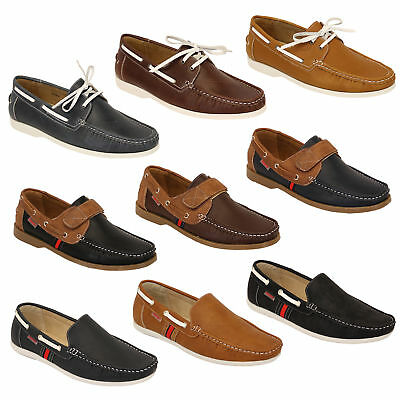 Mens Moccasins Loafers Deck Boat Driving Slip On Lace Up Shoes Casual New
