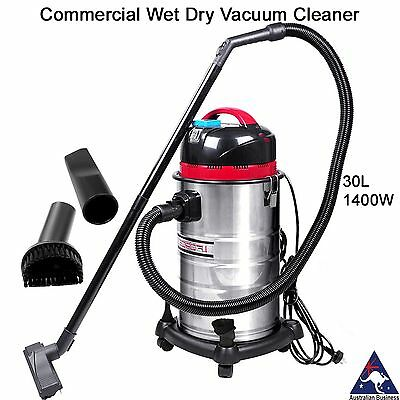Industrial Commercial Bagless Wet and Dry Vacuum Cleaner blower 1400W 30L vac