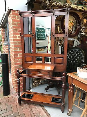 Nice Quality Edwardian Mahogany Hall Stand. Open To Offers.