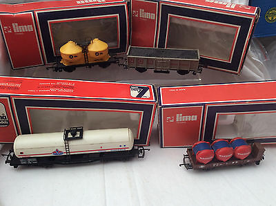 00 / HO GAUGE 4x LIMA ROLLING STOCK - WATNEYS /BLUE CIRCLE / NCB / AMOCO -BOXED