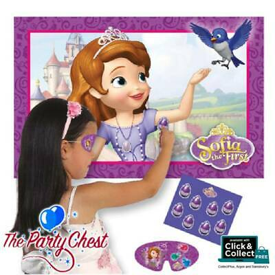 DISNEY SOFIA THE FIRST PIN THE AMULET ON NECKLACE Girls Birthday Party Game 7173