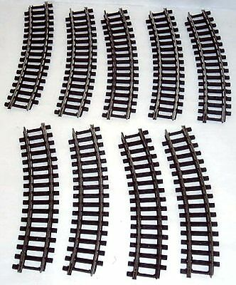 OO Scale Trix Curved Track x 9 pieces - VGUC