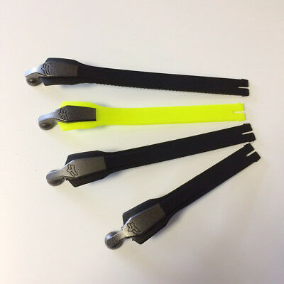 NEW Fox MX Boot Spares - Instinct Strap Set - Black/Fluo Yellow
