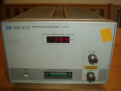 HP 8349A Opt K01 Microwave Amplifier 2-20 GHz