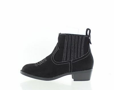 3a5e107fe929 Dolce Vita Girls Gavin Ankle Bootie Black Micro Suede Little Kid 12 M US