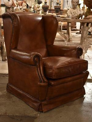 Vintage French wingback club chair