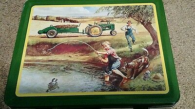 "John Deere ""turtle Trouble"" Metal Lunch Box  Item# 22002"