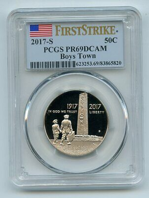 2017 S 50C Boys Town Proof Commemorative PCGS PR69DCAM First Strike