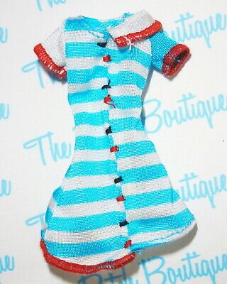 """Monster High Frankie Stein Home Ick Replacement Striped """"Handmade"""" Style Dress"""