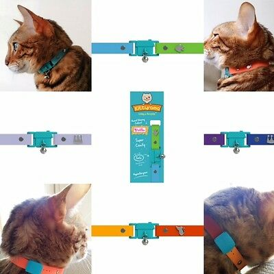 Cat Collar With Bell Hypoallergenic Safety Breakaway Buckle KITTYRAMA Collars