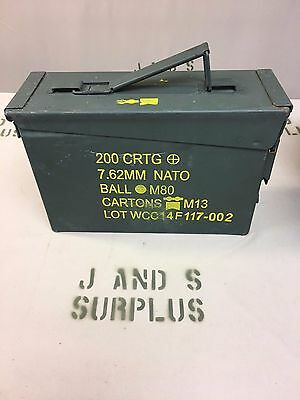 USGI Military .30 Cal M19A1 Ammo Can Metal Storage Grade B stash box prepper