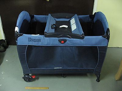 Cosco Funsport Pack & Play for Baby, Navy Blue
