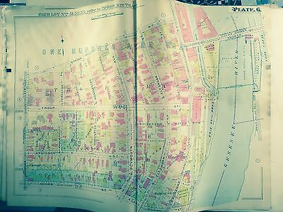 1910 Downtown Rochester Ny  Erie Rr County Jail Copy Plat Atlas Map G.m. Hopkins