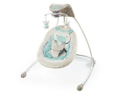 Ingenuity InLighten Cradling Swing Zoo Zoo Zebra - Multi