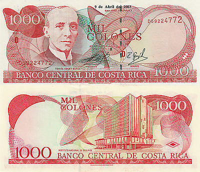 Costa Rica 1000 Colones (9.4.2003) - Nat'l Insurance Inst/p264d UNC