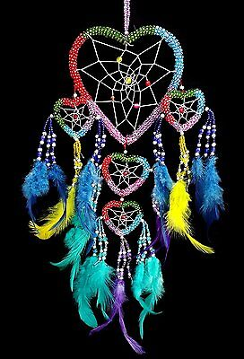 Handmade Dream Catcher with feather wall hanging decoration ornament-rb