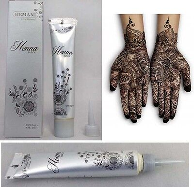 Hemani Black Henna Paste Tube/Cone/Pen Mehndi Mehendi Mendi Temporary Tattoo UK