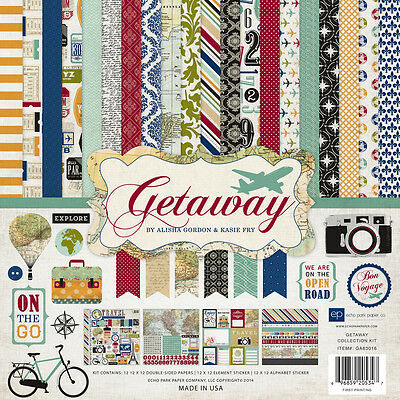 Echo Park Getaway (1) 12X12 Scrapbook Collection Pack Kit Travel Vacation