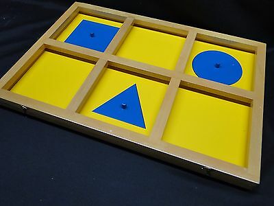Montessori Geometric Demonstration Tray Sensorial, Kido, new
