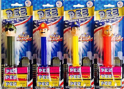 PEZ - 2014 Heroes - Set of 4 - Mint on Cards - MOC