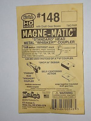 3 packets KADEE #148 Metal Coupler and Insulated Draft Gear box. HO scale