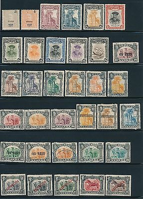 Nyassa (1898-1923) (34) DIFFERENT EARLY ISSUES; MH & USED; CV $37