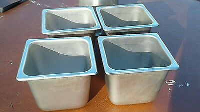 """Five vollrath Stainless Steel  1/6 Size 6"""" Deep Steam Table Food Pan"""