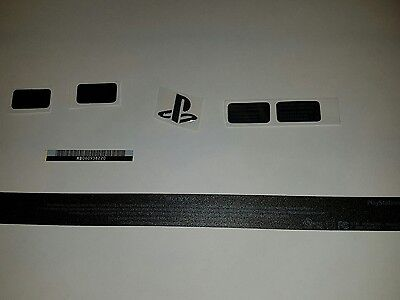 Playstation 4 Maintenance Warranty Stickers Set Black