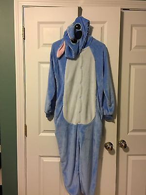 Brand New Stitch One Piece Adult Costume Sleepset Size Small