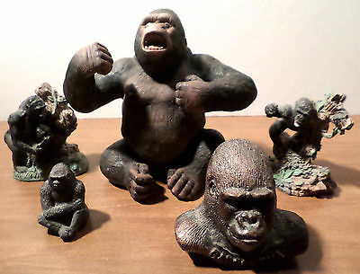 Gorillas Galore!  Five Great Collectible Figurines Including 'gargantua'