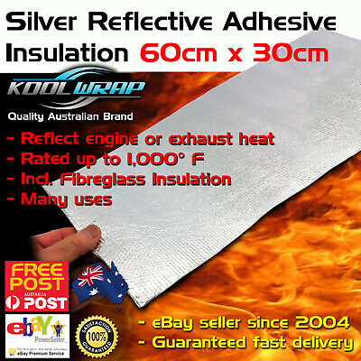 Adhesive Backed Heat Barrier Shield Panel Reflective Insulating 60cm x 30cm
