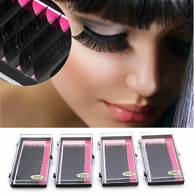 Synthetic Mink Eyelash Extension J B C D Individual Semi Permanent Tray Eye Lash