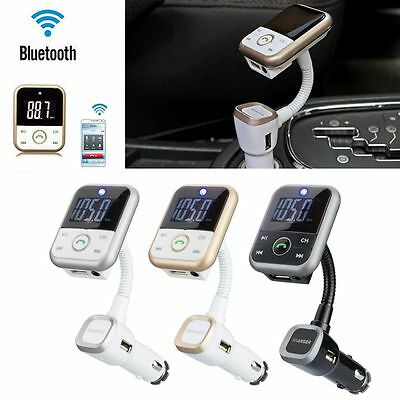 Wireless Bluetooth Handsfree Car Kit LCD FM Transmitter USB Chargers MP3+ Remote
