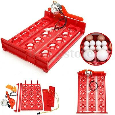 15 Chicken Eggs Turner Automatic Quail Bird Poultry Egg Incubator Tray 110/220V