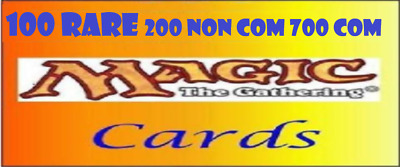 Grande Lotto: 1000 Carte Di Magic The Gathering Mtg: 100 Rare 200 Non Comuni