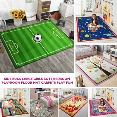 Soft Kids Girls Boys Bedroom Floor Play Mats Children Rugs Carpet Nursery Large
