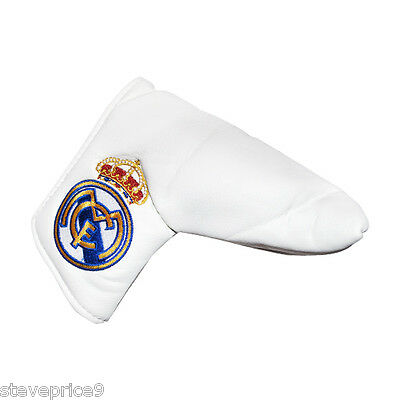 New Real Madrid Fc Golf Blade Putter Cover +Marker