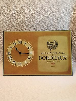 Chateau Beauvais Bordeaux Wine Advertising Clock Home Store