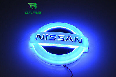 5D car LED badge light car led emblem car logo for NISSAN Geniss multi-colors