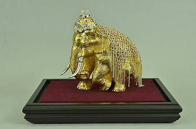 Handcrafted24K gold plated baby elephant for Hot Cast Bronze Masterpiece DB