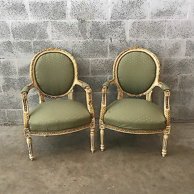 Antique Unique French Set Of 4 Chairs