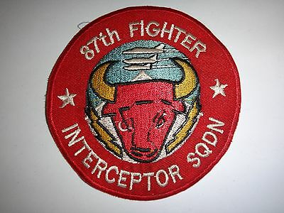 US Air Force 87th FIGHTER INTERCEPTOR SQUADRON Circa 1950's Patch