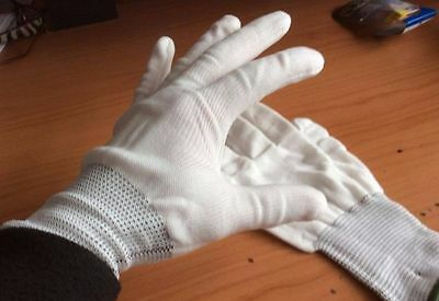 Pairs Of Hand White Work Jewellery Handling Costume Cotton Soft Thin Gloves